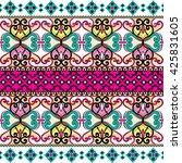 ethnic geometric print.... | Shutterstock .eps vector #425831605
