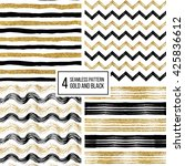 set of grunge seamless pattern... | Shutterstock .eps vector #425836612