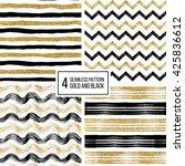 set of grunge seamless pattern... | Shutterstock .eps vector #425836612