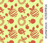 seamless vector pattern with... | Shutterstock .eps vector #425839816