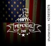 happy memorial day vector... | Shutterstock .eps vector #425855878
