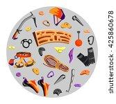 rock climbing equipment and... | Shutterstock .eps vector #425860678