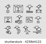 3d printing icons  | Shutterstock .eps vector #425864122
