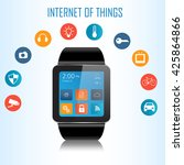 smart watch and internet of... | Shutterstock .eps vector #425864866