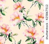 Watercolor Briar Flowers...