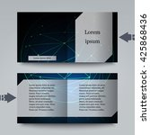 brochure template with abstract ... | Shutterstock .eps vector #425868436