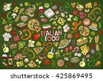 colorful vector hand drawn... | Shutterstock .eps vector #425869495
