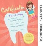 cute tooth fairy receipt... | Shutterstock .eps vector #425870956