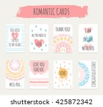 creative romantic greeting ... | Shutterstock .eps vector #425872342
