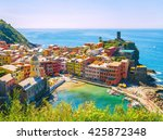 vernazza village  one of famous ... | Shutterstock . vector #425872348