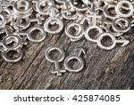 closeup of metallic gender... | Shutterstock . vector #425874085