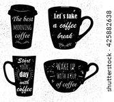 hand drawn logos. the best... | Shutterstock .eps vector #425882638