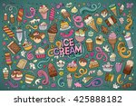 colorful vector hand drawn... | Shutterstock .eps vector #425888182