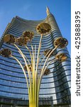 milan  italy may 17 2014  uni...   Shutterstock . vector #425888395