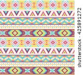 ethnic boho ornament on white... | Shutterstock .eps vector #425891272