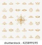luxury vintage crest royal logo ... | Shutterstock .eps vector #425899195
