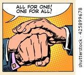 friendship solidarity man hand   Shutterstock . vector #425899678