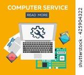 computer service flat... | Shutterstock .eps vector #425904322