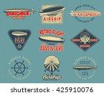 vintage airship logo designs... | Shutterstock .eps vector #425910076