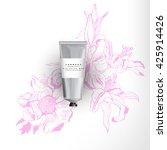 blank realistic tube for... | Shutterstock .eps vector #425914426