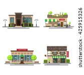 vector set of detailed flat... | Shutterstock .eps vector #425915326