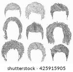 set  different  man hairs... | Shutterstock .eps vector #425915905