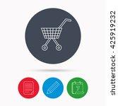 shopping cart icon. market... | Shutterstock .eps vector #425919232