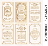 vintage gold vector set retro... | Shutterstock .eps vector #425922805