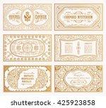 vintage set retro cards....   Shutterstock .eps vector #425923858