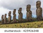 seven large ancestor statues... | Shutterstock . vector #425926348
