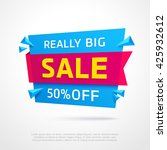 ecommerce bright vector banner. ... | Shutterstock .eps vector #425932612