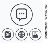 social media icons. chat speech ... | Shutterstock . vector #425932702