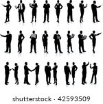 business people silhouette... | Shutterstock .eps vector #42593509