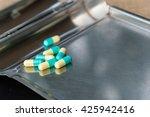 drugs pills on the table | Shutterstock . vector #425942416