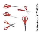 Set Of Red Scissors With...