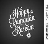 ramadan kareem greeting card... | Shutterstock .eps vector #425944462