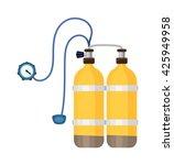 diver cylinders oxygen tank... | Shutterstock .eps vector #425949958