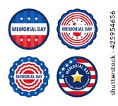 memorial day flat vector... | Shutterstock .eps vector #425954656