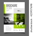 abstract business flyer design... | Shutterstock .eps vector #425957698