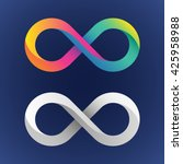 twisted infinity sign with a 3d ... | Shutterstock .eps vector #425958988
