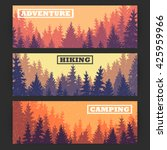 wild coniferous forest banners... | Shutterstock .eps vector #425959966