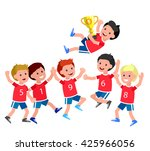 cute vector character kids... | Shutterstock .eps vector #425966056