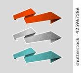 origami paper infographic... | Shutterstock . vector #425967286