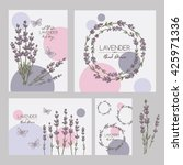 backgrounds with with lavender... | Shutterstock .eps vector #425971336