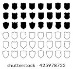 large set of white contour... | Shutterstock . vector #425978722