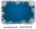 blue christmas background with... | Shutterstock . vector #425978755