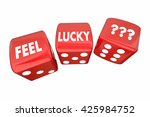 feel lucky two red dice roll... | Shutterstock . vector #425984752