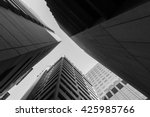 black and white  upward view of ... | Shutterstock . vector #425985766