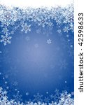 a lot of snow flakes in a blue... | Shutterstock . vector #42598633