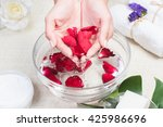 Beauty Woman Hands With A Bowl...